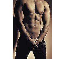 Photograph of a sexy man with great body Photographic Print