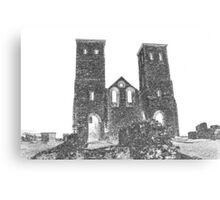 Reculver Castle Sketch Canvas Print