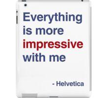 best font ever ( helvetica) iPad Case/Skin