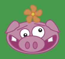 Silly Cartoon Piggie One Piece - Short Sleeve