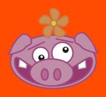 Silly Cartoon Piggie Kids Tee