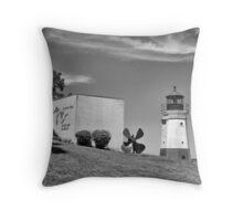 Vermilion Lighthouse Throw Pillow