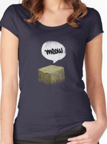 Warren Schrodinger's cat vintage Women's Fitted Scoop T-Shirt