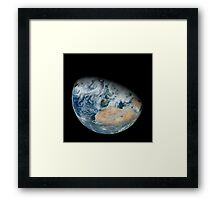 Synthesized view of Earth showing North Africa and southwestern Europe. Framed Print