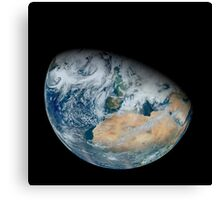 Synthesized view of Earth showing North Africa and southwestern Europe. Canvas Print