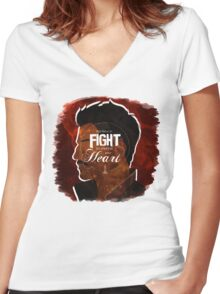 Dorian - Fight For What's In You Heart Women's Fitted V-Neck T-Shirt
