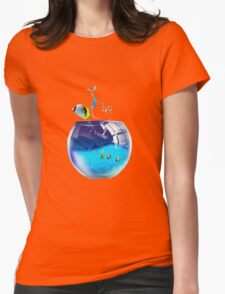 aquarium Womens Fitted T-Shirt