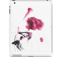 Chinese ink watercolor peony design iPad Case/Skin