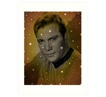 William Shatner as Captain Kirk Art Print