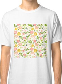 Painted flowers pattern Classic T-Shirt