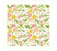 Painted flowers pattern Art Print