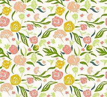 Painted flowers pattern by Julia Hromova