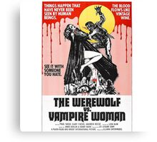 The Werewolf vs. Vampire Woman Canvas Print