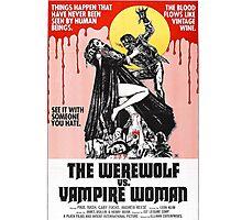The Werewolf vs. Vampire Woman Photographic Print