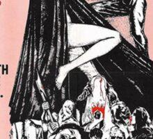 The Werewolf vs. Vampire Woman Sticker