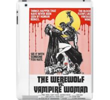The Werewolf vs. Vampire Woman iPad Case/Skin