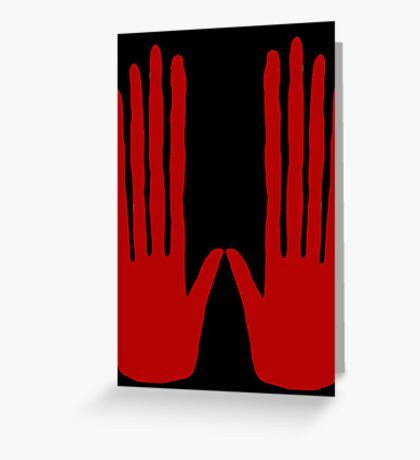 Hands of Fate Greeting Card