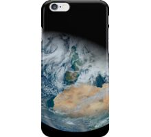 Synthesized view of Earth showing North Africa and southwestern Europe. iPhone Case/Skin