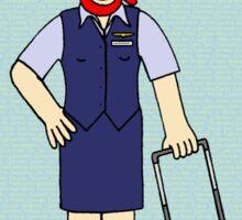 Flight Attendant / Cabin Crew Happy Birthday Sticker