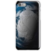 Full Earth showing simulated clouds over Antarctica. iPhone Case/Skin