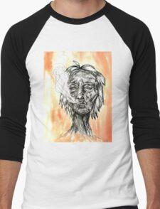 Smoking lady Tania Men's Baseball ¾ T-Shirt