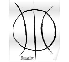 Basketball Symbol Poster
