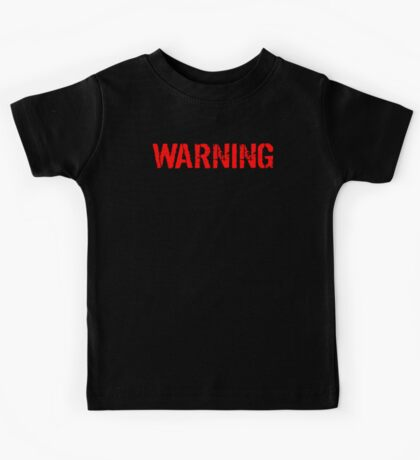 Warning Protected By A Chocolate Lab Kids Tee