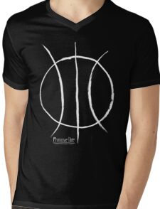 Basketball Symbol WoB Mens V-Neck T-Shirt