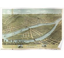 Bird's eye view of the City of Wheeling West Virginia (1870) Poster
