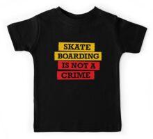 Skateboarding is not a crime Kids Tee
