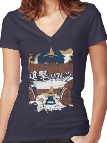Attack on Waltz - Shingeki no Waltz (Final Fantasy IX) Women's Fitted V-Neck T-Shirt
