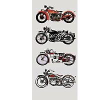 VINTAGE MOTORCYCLES Photographic Print