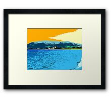 GREENCASTLE BY THE SEA Framed Print