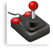 Retro Joystick Canvas Print