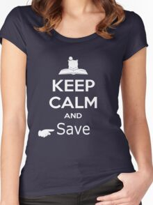 Keep Calm and Save (Final Fantasy) Women's Fitted Scoop T-Shirt
