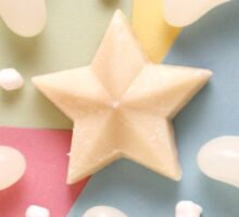 Pastel candy pattern - jelly bean and star  Sticker