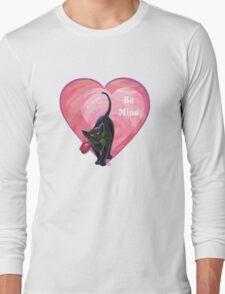 Black Cat Valentine's Day Long Sleeve T-Shirt