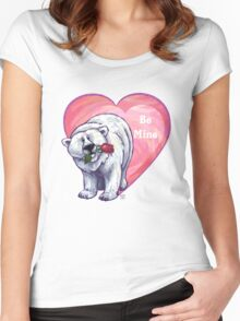 Polar Bear Valentine's Day Women's Fitted Scoop T-Shirt