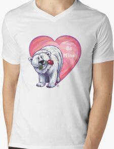 Polar Bear Valentine's Day Mens V-Neck T-Shirt
