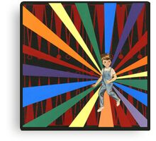 Backgammon Rainbow Boy Canvas Print