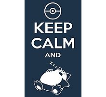 Keep Calm and... zZz (Pokemon) Photographic Print