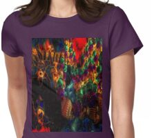 Mardi Gras Beads n Baubles Womens Fitted T-Shirt