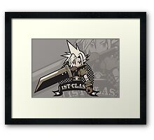 1ST CLASS SOLDIER alt. ver. (Final Fantasy VII) Framed Print