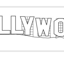 Hollywood Sign, California - Regular Version Sticker