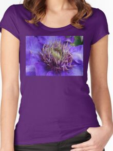 Purple Clematis  Women's Fitted Scoop T-Shirt