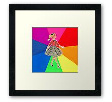 Rainbow Girl Framed Print