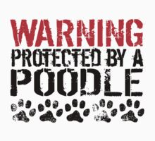 Warning Protected By A Poodle One Piece - Long Sleeve
