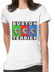 Pug Boston Terrier  Womens Fitted T-Shirt