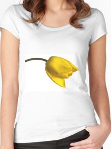 Tulipa 'Yellow Purissima' Women's Fitted Scoop T-Shirt