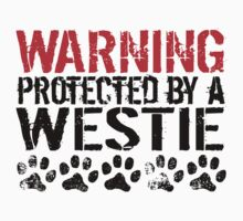 Warning Protected By A Westie One Piece - Long Sleeve